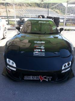 Front view of Fran dengra FD mazda rx7 rotary power crew