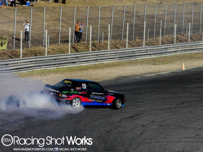 Oscar lopez, first place in drift in jarama circuit madrid