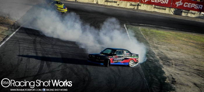 Oscar Lopez BMW E30 3.5cc Turbo drift in jarama circuit madrid