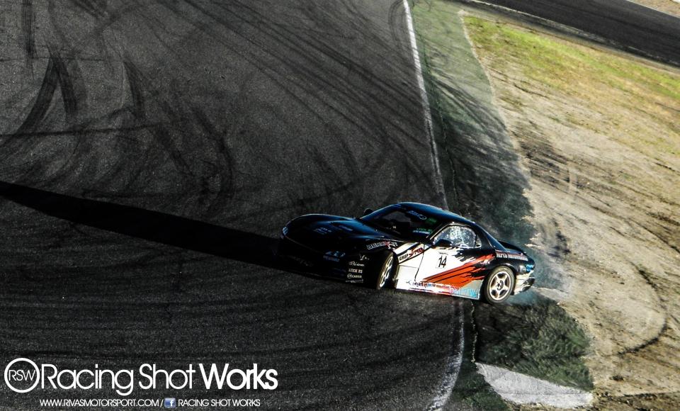 Fran Dengra Mazda Rx7 fd3s drift in jarama circuit madrid