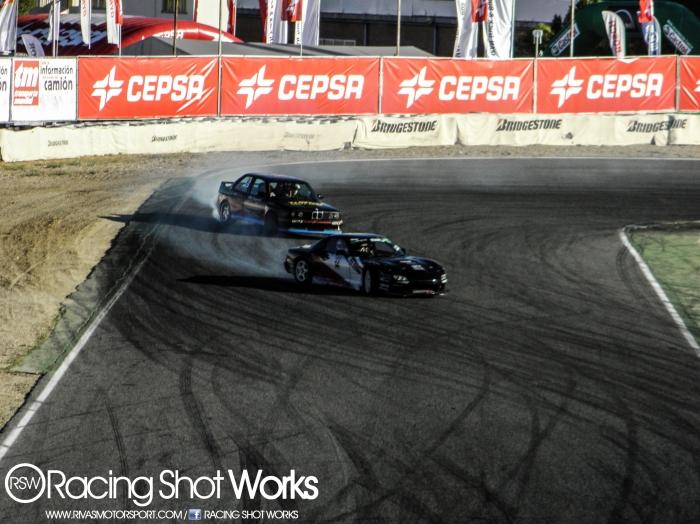 Fran dengra and oscar lopez drifting in Jarama e30, rx7